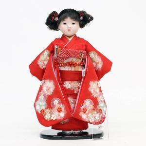 松寿作 市松人形 切嵌京刺繍|marutomi-a