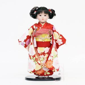 雛人形 ひな祭り 松寿作 市松人形 京友禅 桜 鞠 marutomi-a