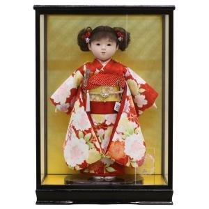雛人形 ひな祭り 松寿作 市松人形 京友禅 桜 鞠 ケース入り (HB9) marutomi-a
