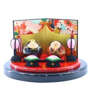 大内人形 セット飾り NO-4 台・屏風・ぼんぼり付 桐箱入り OU-NO-4-SET-03 中村民芸社 大内塗り marutomi-a