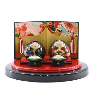大内人形 21号 セット飾り 桐箱入り OU-TS-21-SET-01 谷口漆香堂 大内塗り|marutomi-a