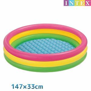 ■商品名:サンセットグロー プール 147×33cm ■対象年齢:3歳以上 ■メーカー:INTEX ...