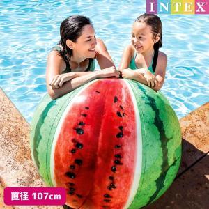 ビーチボール ウォーターメロンボール 107cm INTEX (インテックス) marutomi-a