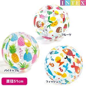 ビーチボール ラブリープリントボール 51cm INTEX (インテックス) marutomi-a