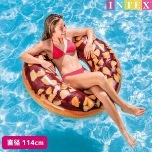 浮き輪 ナッティチョコレートドーナッツチューブ (ドーナツ) 直径114cm INTEX (インテックス)|marutomi-a