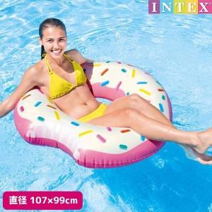 浮き輪 ドーナッツチューブ (ドーナツ) 107×99cm INTEX (インテックス)|marutomi-a