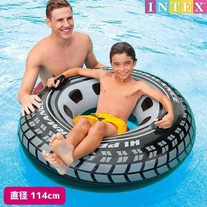 浮き輪 モンスタートラックチューブ タイヤ 114cm INTEX (インテックス)|marutomi-a