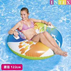 浮き輪 カラーワールチューブ 119cm INTEX (インテックス)|marutomi-a
