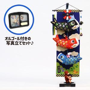 室内こいのぼり 大相撲!金太郎鯉のぼり 中 (スタンド・オルゴール付) つるし飾り こいのぼり|marutomi-a