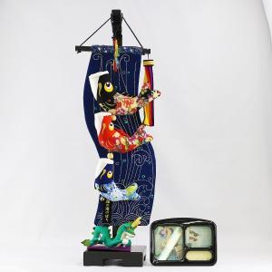 室内こいのぼり 鯉の滝登り 小 (スタンド・オルゴール付) つるし飾り こいのぼり|marutomi-a