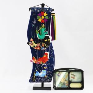 室内こいのぼり 鯉の滝登り 特小 (スタンド・オルゴール付) つるし飾り こいのぼり|marutomi-a
