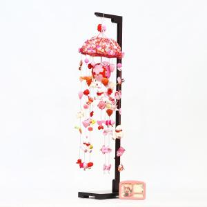つるし飾り つるし雛 桜うさぎ (大) スタンド付き オルゴール付き|marutomi-a