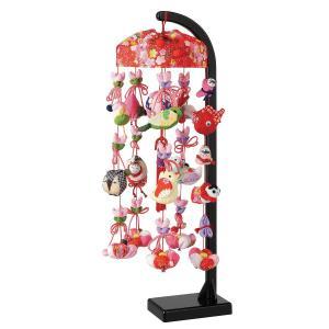 つるし飾り つるし雛 雪割桜 スタンド付 【HF-234】|marutomi-a