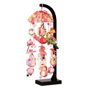 つるし飾り つるし雛 桜あかり スタンド付 【HF-232】|marutomi-a