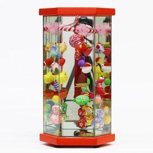 つるし飾り つるし雛 久月 さげもんケース入り 赤塗 小 オルゴール付|marutomi-a