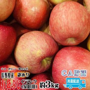 フルーツ りんご 有袋ふじ Cランク 家庭用 約 3kg 訳...