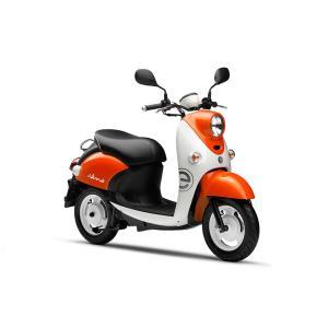新車 YAMAHA ヤマハ E-Vino  原付 バイク 電動バイク ZAD-SY11J スクーター 電気 (オレンジ/ホワイト)|marutomiauto0103