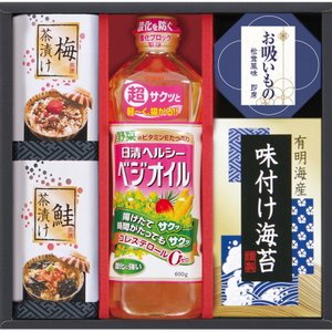 お中元 和楽膳 日清ベジオイル&和風詰合せ WJ-20B 御中元 調味料・味噌汁・海苔|marutti
