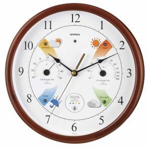 お天気予測・温湿度計付き掛け時計 スーパーEXメロディ気象台 日本製|marutto-markets