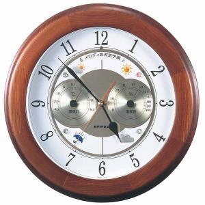 お天気予測・温湿度計付き掛け時計 メロディ気象台・グランデ 日本製|marutto-markets