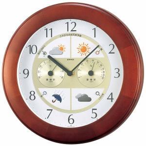 お天気予測・温湿度計付き掛け時計 ウェザーパルII気象台 日本製|marutto-markets