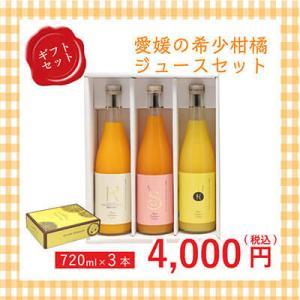 愛媛県産 みかんジュース 希少柑橘のジュースセット 720ml×3本