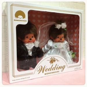 ウェディングドール モンチッチ 洋装 MONCHHICHI Wedding Doll 260900【ウェルカムドール/ブライダル/ウェディング人形/ウェディングモンキー/結婚祝い】|maruwa1923
