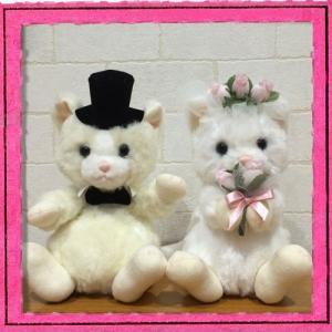 ウェディングドール ねこ Wedding Doll 日本製 【ウェルカムドール/ウェディングぬいぐるみ/ブライダル/結婚祝い】|maruwa1923