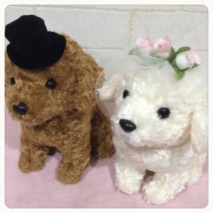ウェディングドール プードル 犬 Wedding Doll 日本製 【ウェルカムドール/ウェルカムドッグ/ブライダル/結婚祝い】|maruwa1923