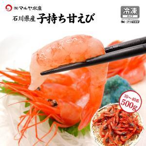 甘えび 子持ち ( 訳あり/石川県産/お刺身用 ) 500g 30〜40匹|maruya