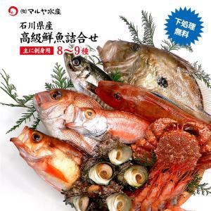 石川県で水揚げされた旬の魚介類からお刺身用を中心に8〜9種類詰め合わせてお届けします。 美味しい魚だ...