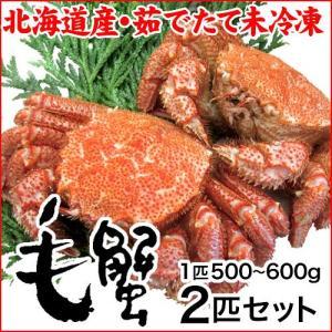 (北海道産)茹で 毛蟹:特大:450〜550g×2匹|maruya