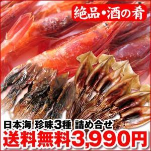 日本海からの酒の肴 (特選) 珍味3種 詰め合せ|maruya