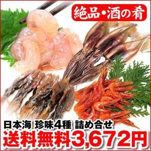 日本海からの酒の肴 (特選) 珍味4種 詰め合せ|maruya