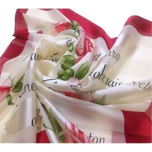 シルクスカーフ日本製 9102 横浜シルクスカーフ 四方形スカーフ レディーススカーフ 母の日 プレゼント用 ギフト包装 欧米デザイン 3色あり|maruyama-trade