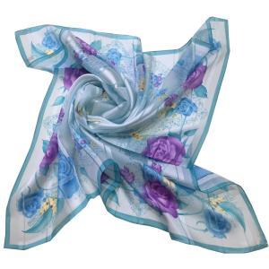 シルクスカーフ日本製 四方形スカーフ レディーススカーフ 母の日 プレゼント用 ギフト包装 欧米デザイン 2色あり|maruyama-trade