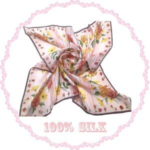 JS2012031横浜シルクスカーフ 四方形スカーフ レディーススカーフ 母の日 プレゼント用 ギフト包装 |maruyama-trade