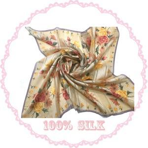 横浜シルクスカーフ レディーススカーフ シルクスカーフ日本製 大判スカーフ 母の日 プレゼント用 ギフト包装|maruyama-trade