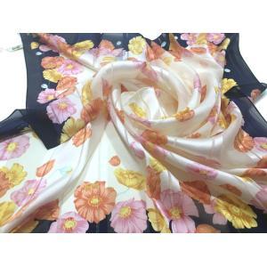 シルクスカーフ 横浜シルクスカーフ レディーススカーフ 母の日 プレゼント用 ギフト包装 3色あり|maruyama-trade