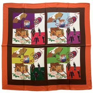 シルクスカーフ日本製 横浜シルクスカーフ 四方形スカーフ レディーススカーフ 母の日 プレゼント用 ギフト包装 欧米デザイン 2色あり|maruyama-trade