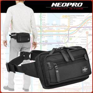 ネオプロ ジップ ウエストポーチ ボディバッグ トラベルウエスト 2-050 NEOPRO ZIP|maruzen-bag
