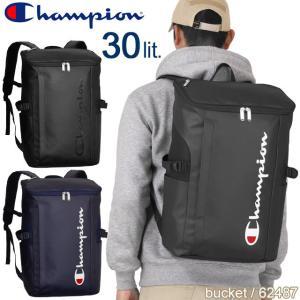 チャンピオン リュック リュックサック ボックス型 ブラック/ネイビー 30リットル 大容量 Cha...