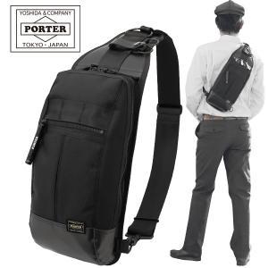 吉田カバン ポーター ヒート ワンショルダー バッグ ブラック PORTER HEAT 703-08000|maruzen-bag