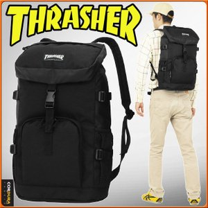 b73b9dbe5d スラッシャー リュックサック フラップ型 ブラック THRASHER スクエア 男子 女子 スクールバッグ スクバ 通学リュック THRRM503