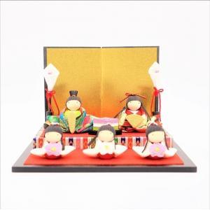 雛人形 コンパクト ちりめん 小さい 手作り/花祭り雛飾り/お雛様 ひな祭り ひな人形 人形 飾りミ...