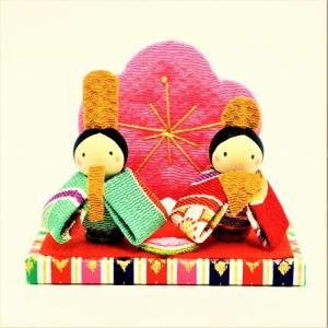 雛人形 コンパクト ちりめん 小さい 手作り/ほほえみ雛/お雛様 ひな祭り ひな人形 人形 飾りミニ...