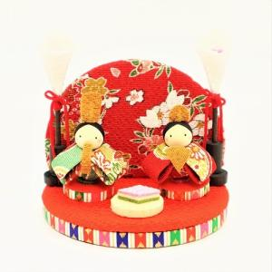 雛人形 コンパクト ちりめん 小さい 手作り/三月飾り/お雛様 ひな祭り ひな人形 人形 飾りミニ ...