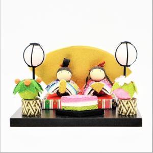 雛人形 コンパクト ちりめん 小さい 手作り/弥生座雛/お雛様 ひな祭り ひな人形 人形 飾りミニ ...