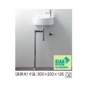 INAX イナックス LIXIL・リクシル 狭小手洗シリーズ 手洗タイプ[丸形]AWL-33(BS) [壁給水/床排水(ボトルトラップ)] [ハイパーキラミック]|mary-b