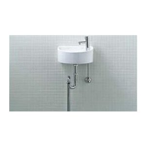 AWL-33(S) 壁給水・床排水 INAX イナックス LIXIL・リクシル トイレ用狭小手洗シリーズ 手洗タイプ(丸形) 手洗い器一式セット おしゃれ コンパクト |mary-b